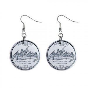 New Jersey State Quarter Dangle Earrings Jewelry 1 inch Buttons 12302527