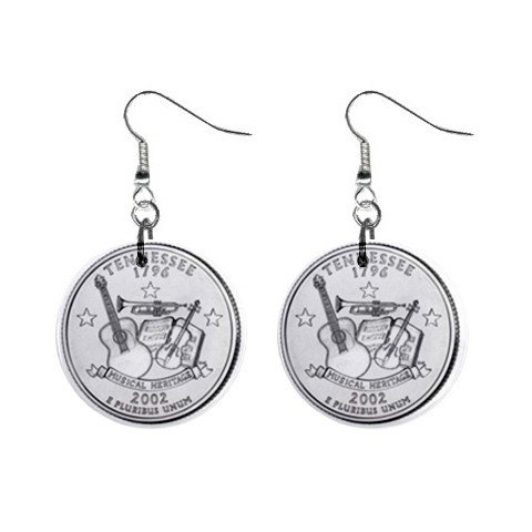 Tennessee State Quarter Dangle Earrings Jewelry 1 inch Buttons 12302513