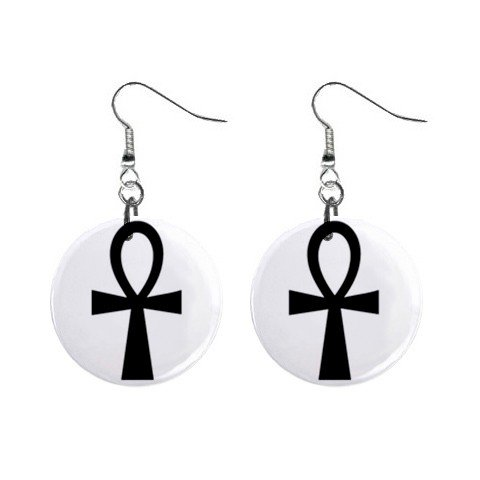 Ankh - Symbol of Life Dangle Earrings Jewelry 1 inch Buttons 12306004