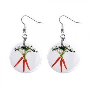 Bunch of Carrots Dangle Earrings Jewelry 1 inch Buttons 12306010