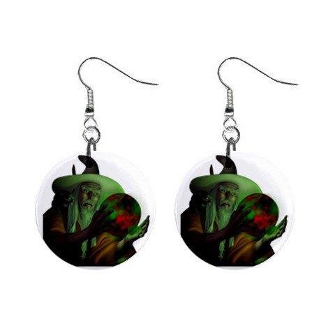 Wizard Mystic Dangle Earrings Jewelry 1 inch Buttons12334746