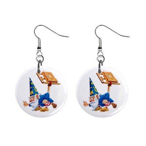 Wizard Mystic Dangle Earrings Jewelry 1 inch Buttons12334741