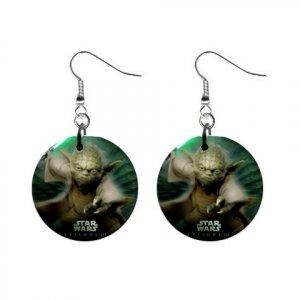 Star Wars Yoda Dangle Earrings Jewelry 1 inch Buttons 12320256
