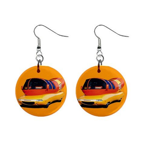 "New Oscar Mayer Mobile Dangle Earrings Jewelry 1"" Button Round 12329451"