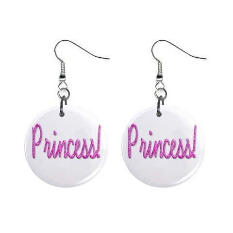 Princess Dangle Earrings Jewelry 1 inch Buttons 12116680