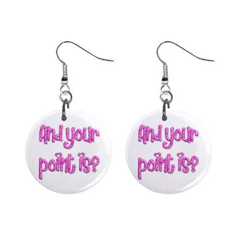 And your point is? Dangle Earrings Jewelry 1 inch Buttons 12116681