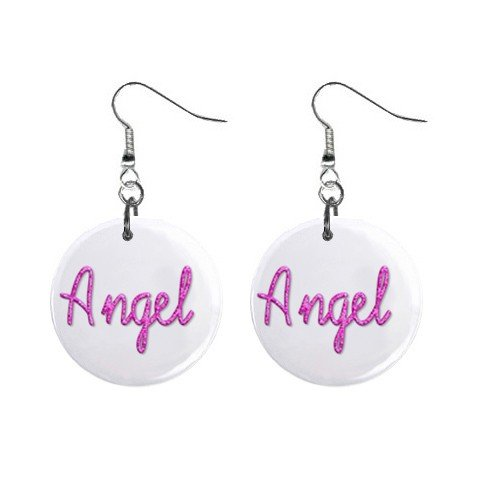 Angel Dangle Earrings Jewelry 1 inch Buttons 12116689