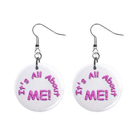 It's All About ME! Dangle Earrings Jewelry 1 inch Buttons 12116690
