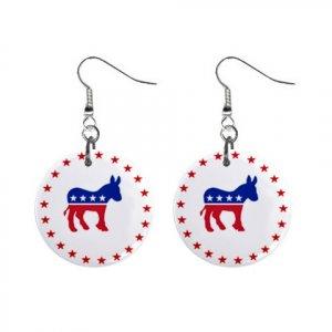 Democrat Donkey #2 Dangle Earrings Jewelry 1 inch Buttons 12323131