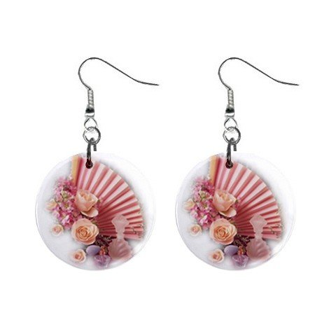 Seashell Spa Dangle Earrings Jewelry 1 inch Buttons 12479610