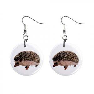 Hedgehog Dangle Earrings Jewelry 1 inch Buttons 12479763