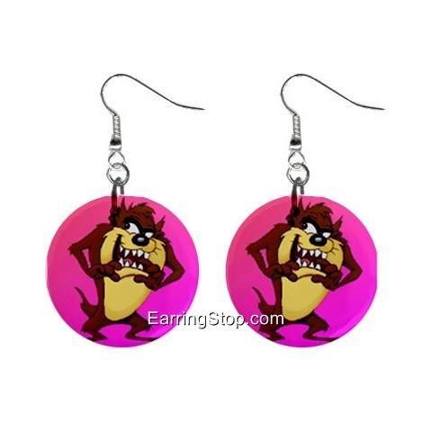 Taz Devil #1 Dangle Earrings Jewelry 1 inch Buttons 12409540