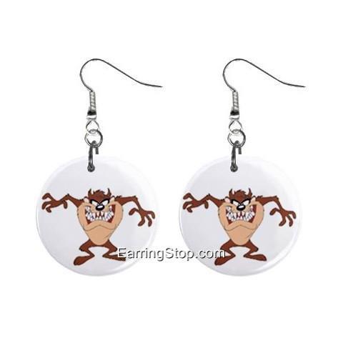 Taz Devil #3 Dangle Earrings Jewelry 1 inch Buttons 12409538