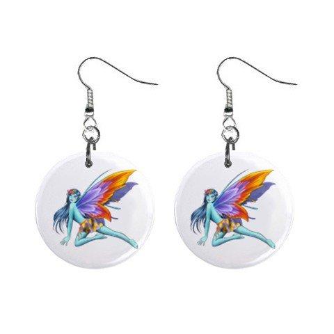 Fairy Fairie #1 Dangle Earrings Jewelry 1 inch Buttons 12310653