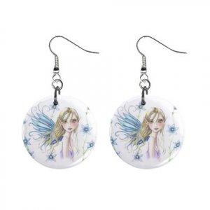 Fairy Fairie #4 Dangle Earrings Jewelry 1 inch Buttons 12310655