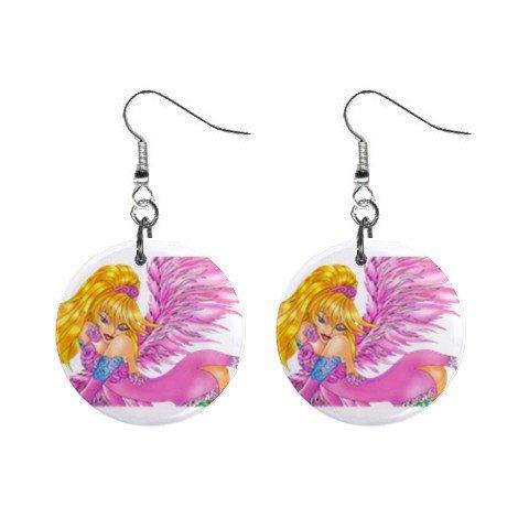 Fairy Fairie #6 Dangle Earrings Jewelry 1 inch Buttons 12310661