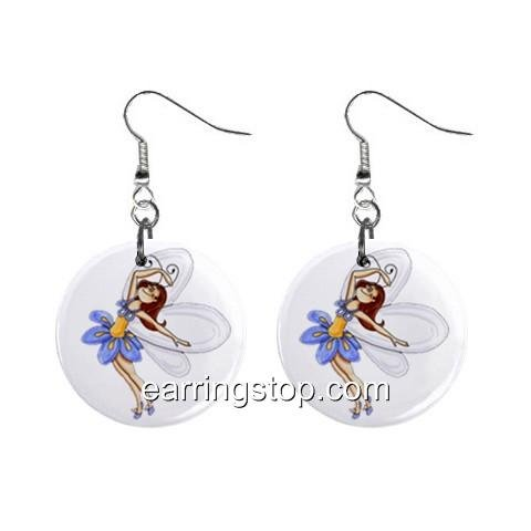 Fairy Fairie #12 Dangle Earrings Jewelry 1 inch Buttons 12310663