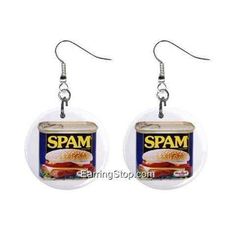Can of Spam Dangle Earrings Jewelry 1 inch Buttons 12409531