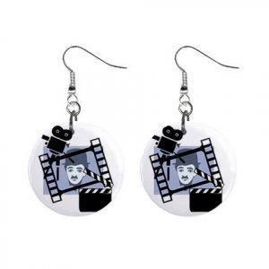 Charlie Chaplin Dangle Earrings Jewelry 1 inch Buttons 12310637