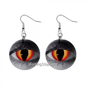 Gothic Fire In Your Eyes Dangle Earrings Jewelry 1 inch Buttons 12409462