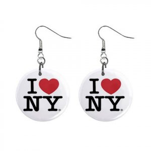 I Love Ny New York Dangle Earrings Jewelry 1 Inch Ons