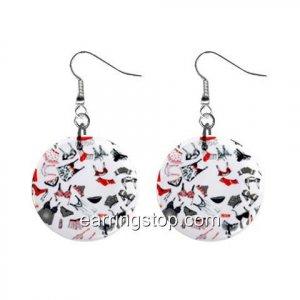 Undies Dangle Earrings Jewelry 1 inch Buttons 12398823