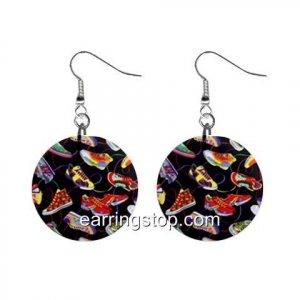 Sneekers Dangle Earrings Jewelry 1 inch Buttons 12398821