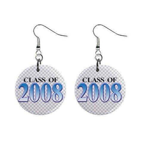 Class of 2008 Dangle Earrings Jewelry 1 inch Buttons 12628261
