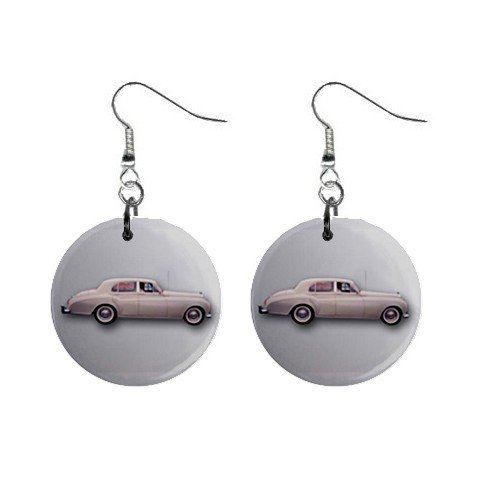 Bentley Dangle Button Earrings Jewelry 1 inch Round 12779132
