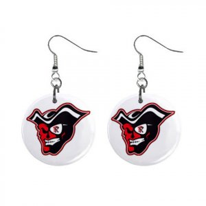 Rangeview High School Raider Mascot Dangle Button Earrings Jewelry 12949811