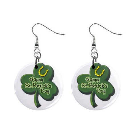 Happy St. Patrick's Day  Dangle Button Earrings Jewelry  13501050