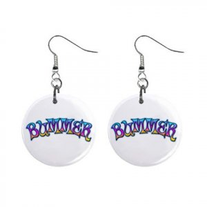 New BUMMER Dangle Button Earrings Jewelry 13631213