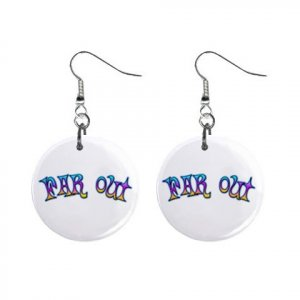 New FAR Out Dangle Button Earrings Jewelry 13631630