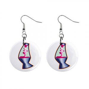 New Lava Lamp Retro Hippie Dangle Button Earrings Jewelry 13631835