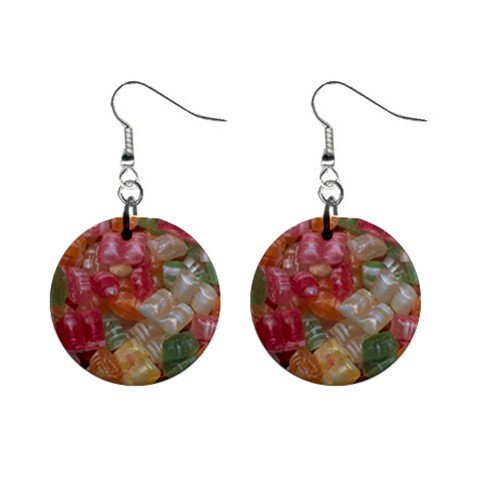 Candy  Christmas Dangle Earrings Jewelry 1 inch Buttons 12982347