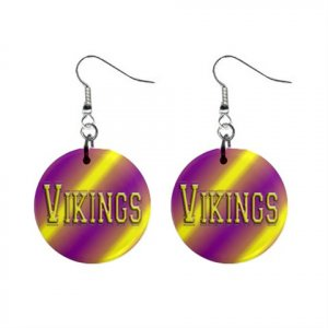 Vikings Minnesota Dangle Earrings Jewelry 1 inch Buttons 16502052