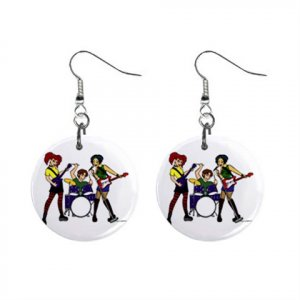 Singing Group Band Dangle Earrings Jewelry 1 inch Buttons 16546625