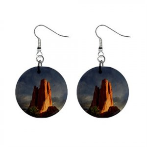 Garden of the Gods Colorado #2 Dangle Earrings Jewelry 1 inch Buttons 14599402