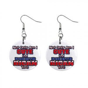 Puerto Rican Dangle Earrings Jewelry 1 inch Buttons 15314317