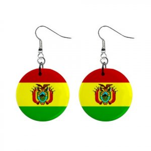 Flag of Bolivia  Dangle Button Earrings Jewelry 15365041