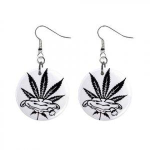 Pothead Dangle Button Earrings Jewelry 13152902