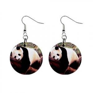 Panda Bear  Dangle Button Earrings Jewelry 13894587