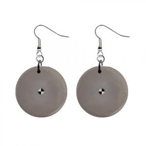 Hypnotic Style Dangle Button Earrings Jewelry 13894585