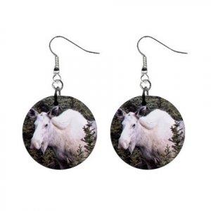 White Moose Dangle Button Earrings Jewelry 13894489