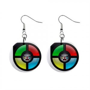 """New Simon Extreme Design Dangle Button Earrings Jewelry 1"""" Round 16546229"""