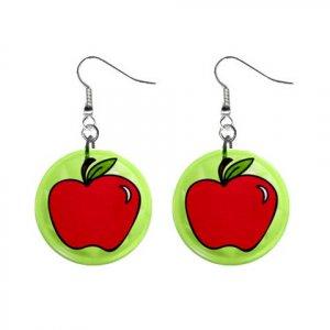 APPLE CARTOON Dangle Earrings Jewelry 1 inch Buttons 21493391