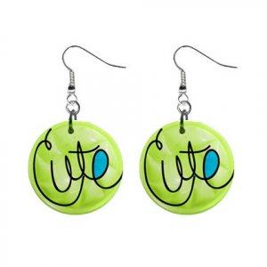 CARTOON CUTE Dangle Earrings Jewelry 1 inch Buttons 21494637