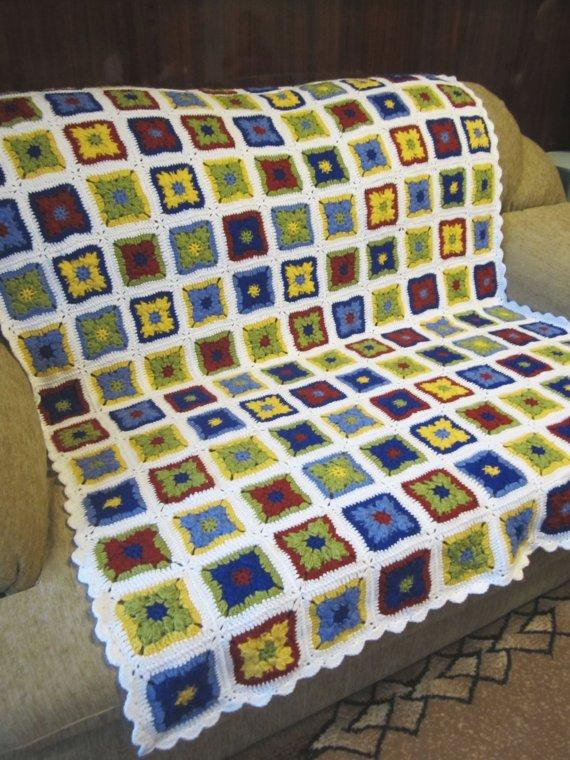 Crochet Granny Squares Afghan