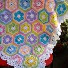Granny Square Crochet Blanket Baby Crib Blanket