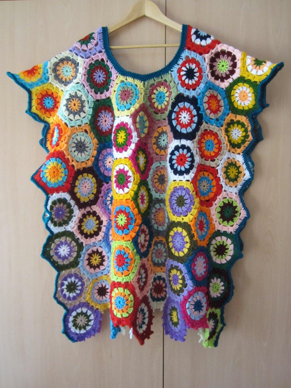 Crochet Granny Square poncho